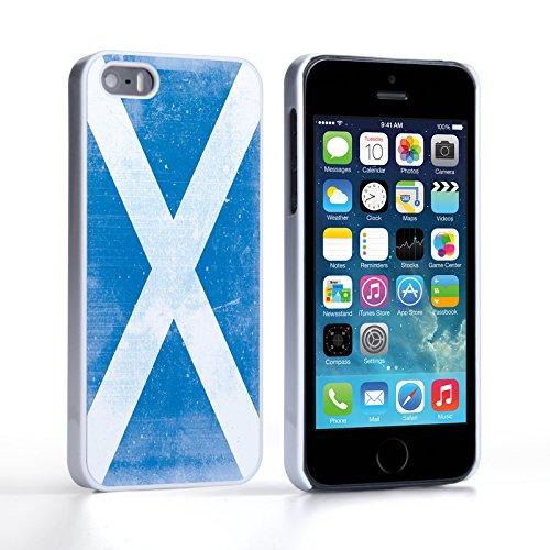 Caseflex iPhone 5 / 5S Hülle Retro Schottland Flagge Hart Schutzhülle