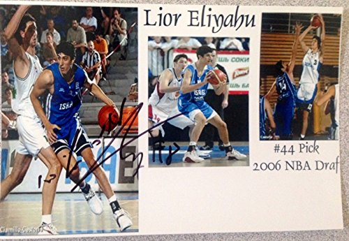 LIOR ELIYAHU SIGNED 4X6 ISRAEL NBA DRAFT AUTOGRAPH PSA JSA GUARANTEED! from Unknown