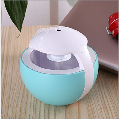 Nanum Colorful Elves Cool Mist Humidifier 450ml Ultrasonic Adjustable Mist Mode Waterless Auto Shut-off and 7 Colors Changing for Office Bedroom Baby (Blue) by Nanum (Image #3)