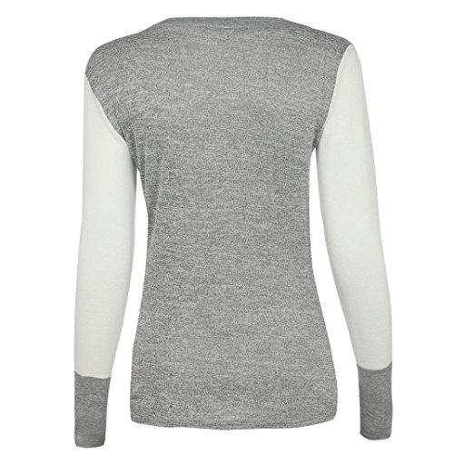 Tops Inverno Magliette Lunghe Tshirt Lunga Nero Donna koobea Bianca Donna Maniche Manica Elegante Autunno 7qUxwZn