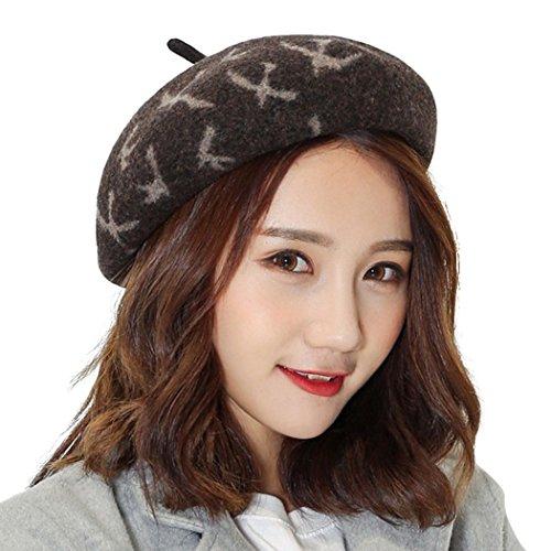 Womens Beret, Fascigirl Beret Hat Fashion French Style Beret Winter Hat