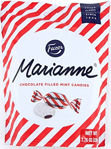 Fazer Marianne Chocolate Filled Mint Candy 7.76-ounce (220g) Bags (Pack of 2) ()