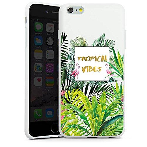 Apple iPhone 6 Plus Silikon Hülle Case Schutzhülle Muster ohne Hintergrund Flamingo Dschungel