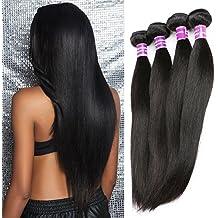 """ZSF Hair 7A Grade Peruvian Virgin Hair Straight 3 Bundles 100% Human Hair Extension 14""""16""""18"""" Straight Hair Bundles"""