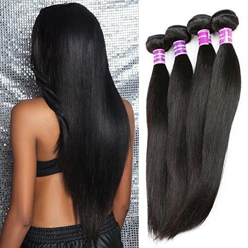 ZSF Hair 7A Grade Peruvian Virgin Hair Straight 3 Bundles 100% Human Hair Extension 14