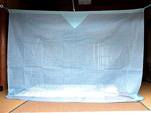 リネンハウス 蚊帳 3畳 吊り下げ 片麻 アサギ (1.5mx2m) 日本製 B078MGMBYL