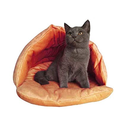 KOBWA - Saco de Dormir para Gatos con Forma de Zapatilla, Suave y cálido,