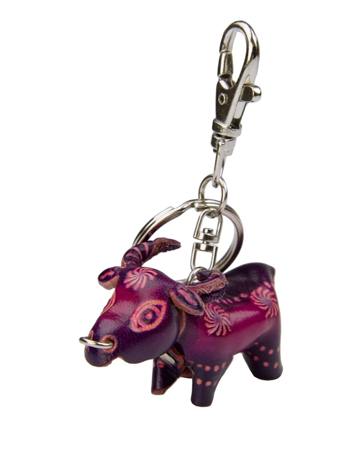 Leather Keychain - Cow