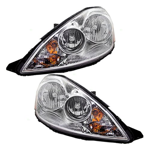(Driver and Passenger Halogen Headlights Headlamps Replacement for Toyota Van 81150-AE030 81110-AE030)