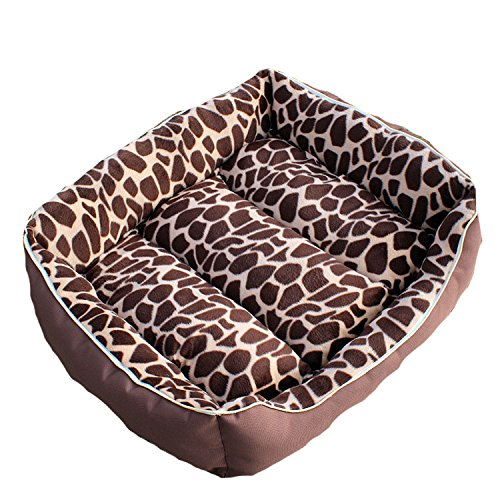 Pack of 1 m size VICTORY,Soft Home Multi Functional Washable Dog Bed Cotton Pad(S,M,L) Mat Removable and Double-Sided Available Nice Leopard for Small,Medium,Large Dogs Cats Puppy Dog