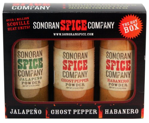 (Ghost Pepper - Habanero - Jalapeno 3.75 Oz Powder Gift Box)