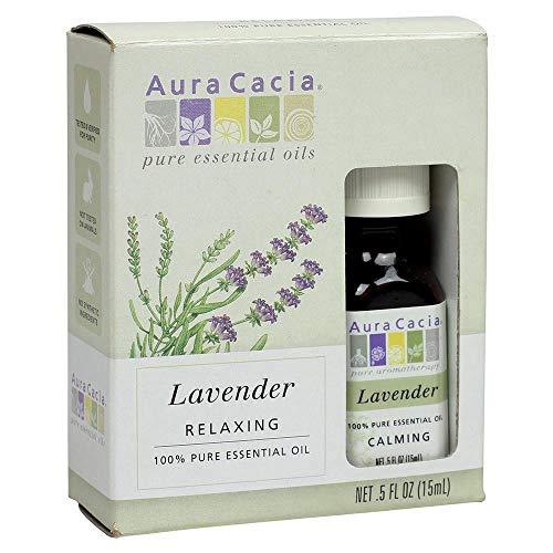 Aura Cacia - Pure Lavender Essential Oil | 0.5 fl. oz. in Box with Uses Insert