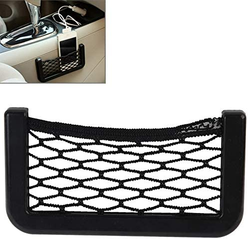 Suitable for Most Cars XUJINQI Car Storage Space Car Net Pockets 12cm X 6cm Seat Hanging Storage Mesh Bag Storage String Bag With Adhesive