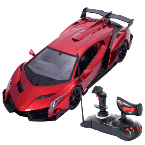1/14 Lamborghini Veneno Electric Sport Radio Remote Control RC Car Red Kids Toy by Unbranded
