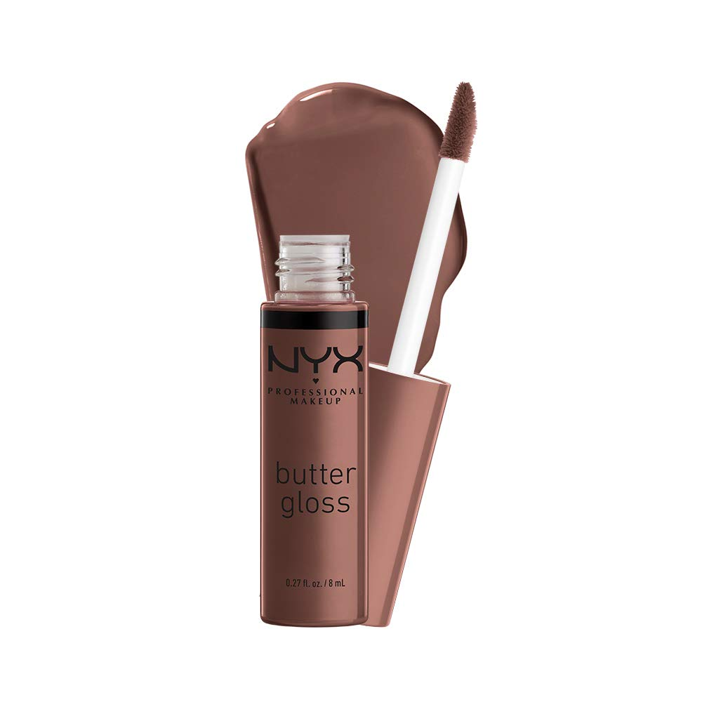 NYX PROFESSIONAL MAKEUP Butter Gloss - Ginger Snap (Chocolate Brown), Non-Sticky Formula
