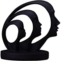 BESPORTBLE Black Women Abstract Face Statues Thinking Lady Sculpture Women Thinker Figurines Desktop Decorations Resin…