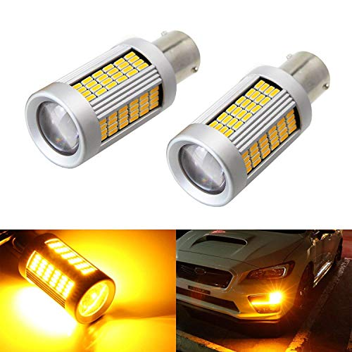 iJDMTOY (2) No Hyper Flash 25W High Power Amber 7507 CAN-bus LED Replacement Bulbs For Car Front or Rear Turn Signal Lights (No Load Resistor Required)