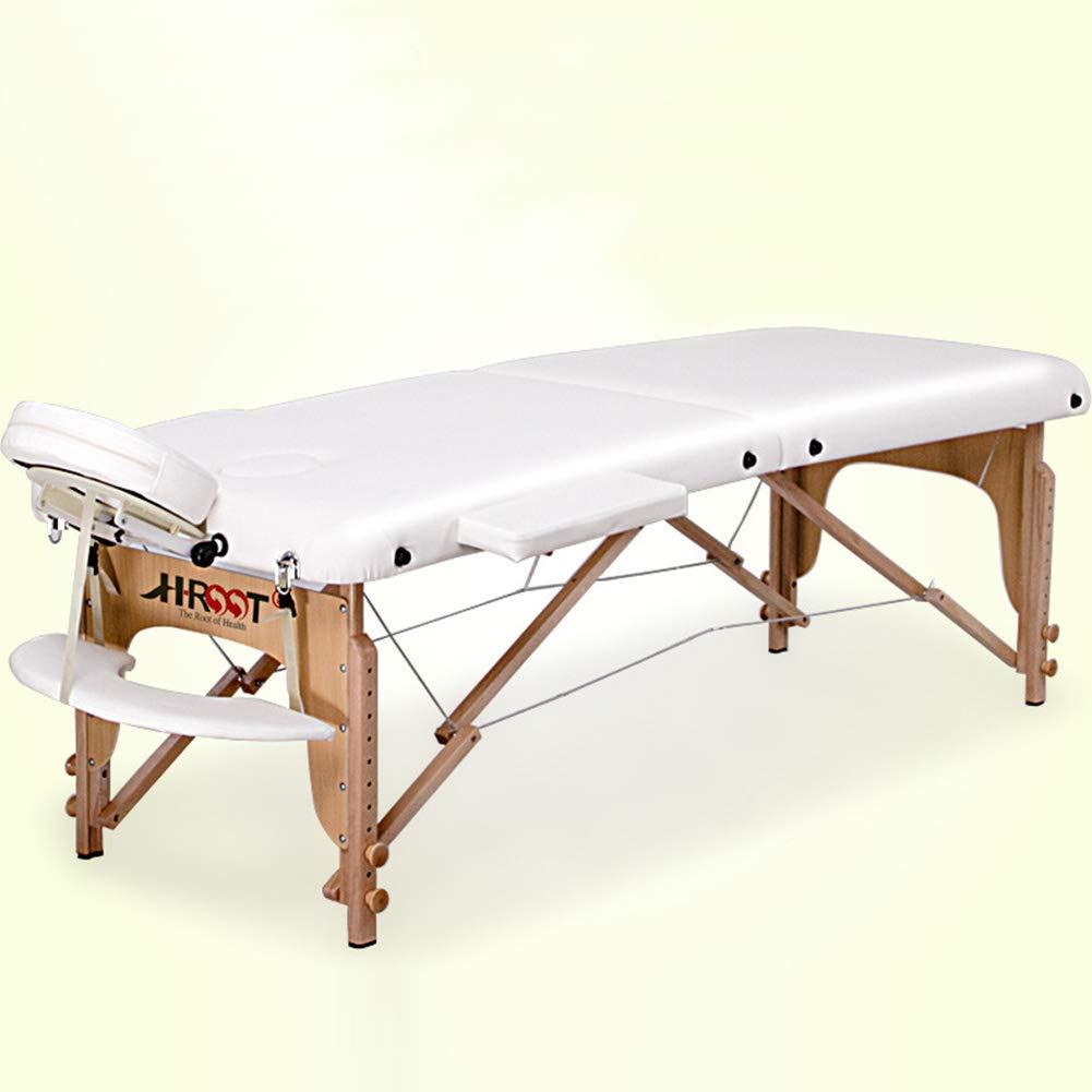 マッサージのテーブルのベッドの椅子/携帯用贅沢な美のソファー、専門の折る木/オーラの入れ墨の理学療法 B07T6GKYP7  195cm*71cm