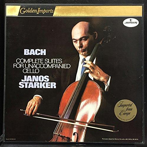 Janos Starker - Johann Sebastian Bach - Suites For Unaccompanied Cello Complete - Lp Vinyl - Vinyl Cello Unaccompanied