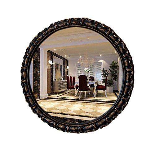 Makeup mirror Round Wall-mounted Bathroom Vintage Washbasin Mirror Porch Living Room Decorative Mirror