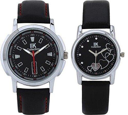 Analogue Black Dial Men's and Women's Watch (IIK502M-1503W)