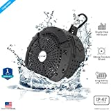 ZAAP® (USA) AQUA waterproof/ Shockproof Bluetooth Wireless speaker With Built-In Microphone, International Award Winning IP67 Design for Shower/Outdoor/Desktop & Sports (Black)