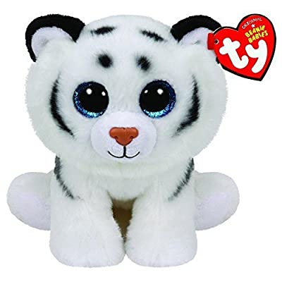"Ty Beanie Babies 6"" Plush Tundra The White Tiger: Toys & Games"