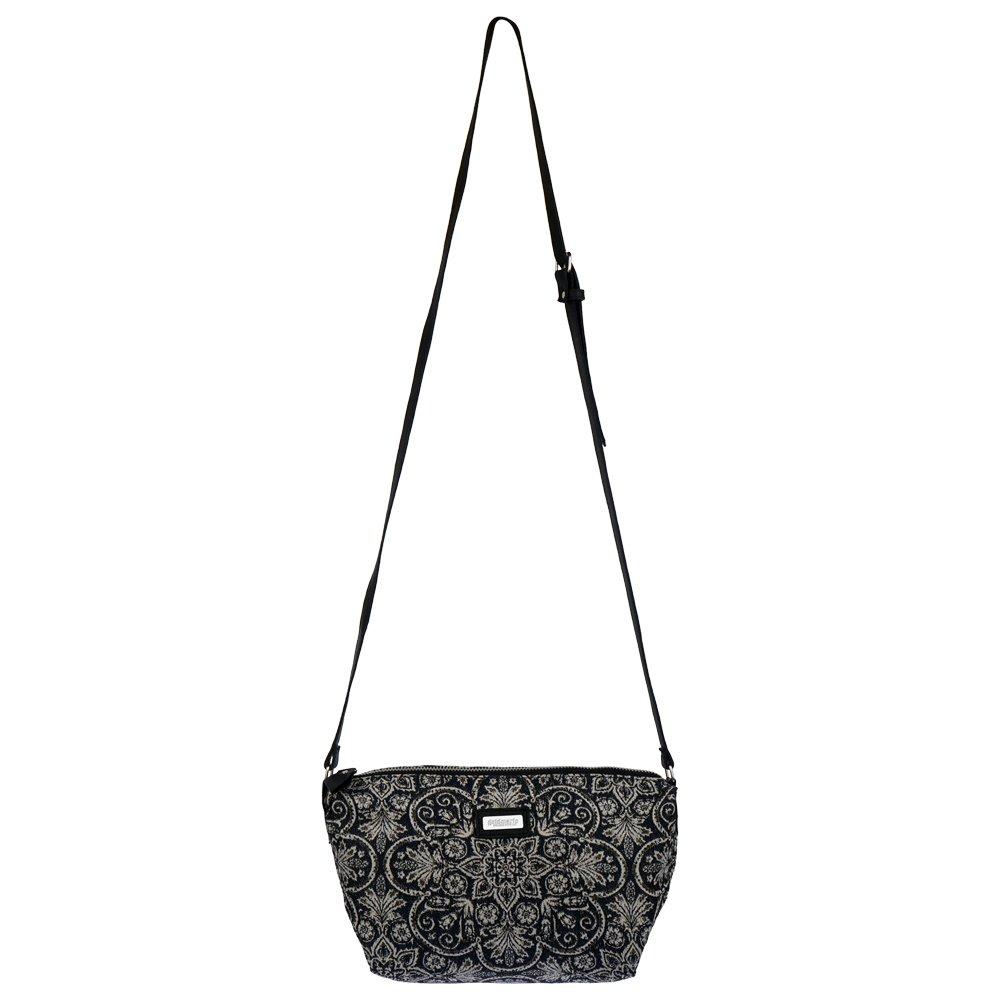 42d2a8916b5d4 Goldmarie Handtasche Canvas Tasche Marokkanisches Muster Umhängetasche Damen  nachtblau grau  Amazon.de  Schuhe   Handtaschen