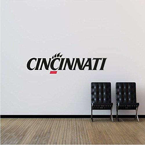 Cincinnati Bearcats NCAA USA Logo College Sport Set of 2 Art Wall Decor Sticker 25'' x 6''
