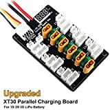 #7: Upgraded XT30 Parallel Charging Board for 1S 2S 3S LiPo Batteries Compatible with XT30 JST JST-PH 2.0 Powerwhoop mCPX Connector LiPo Batteries by Recharlance