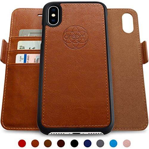 Cheap Cases Dreem iPhone X Wallet Case with Detachable SlimCase, Fibonacci Luxury Series, Vegan..