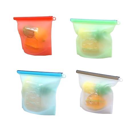 Cabilock - Bolsas de silicona reutilizables para zumo, carne ...