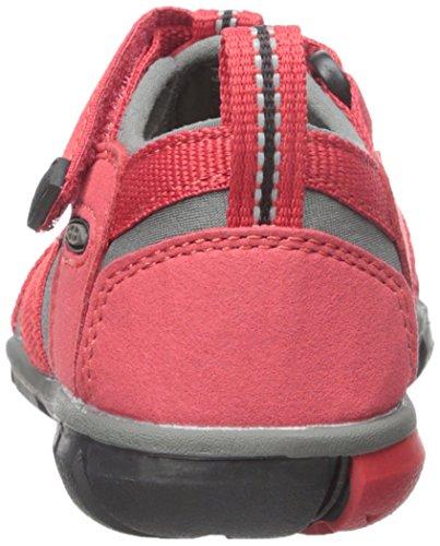 Keen Seacamp II CNX - Zapatillas de senderismo Unisex Niños Rojo  (Racing Red/Gargoyle)