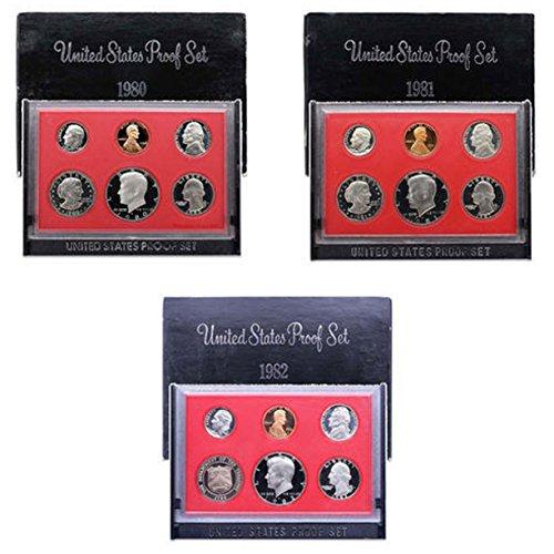 1980 S -1982 US Mint Set Clad Proof ()