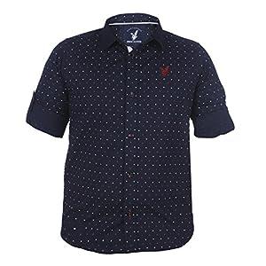 Urban Scottish Polka Print Cotton Shirt for Boys