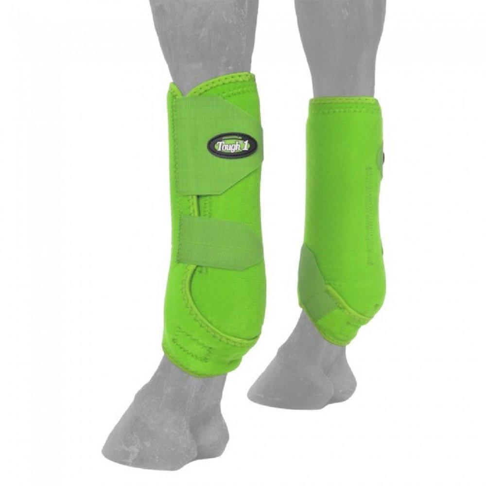 tough-1 Ventedスポーツブーツ背面 B0067QRM02 Large|ネオングリーン ネオングリーン Large