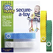 Baby Buddy 4 Piece Secure-A-Toy, Yellow/Blue/White/Green