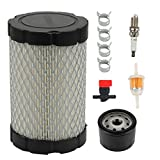 Harbot MIU14395 Air Filter with Tune Up Kit for John Deere D100 D105 D110 D130 D125 L105 L107 LA135 LA145 L108 X124 E100 E120 E130 E140 E150 X125 X330 Lawn Tractor