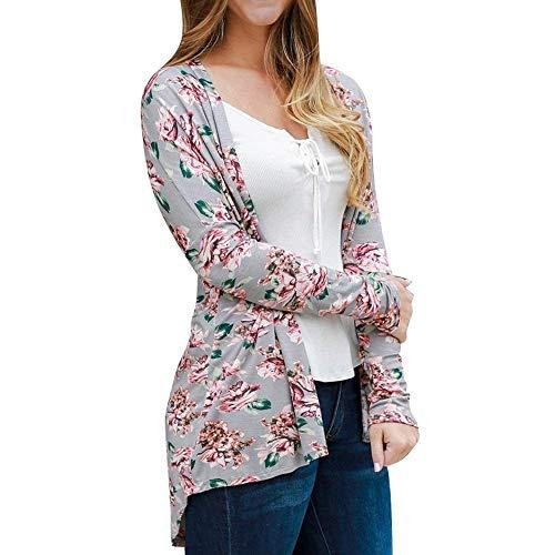 Outerwear Giacca Fiore Modello Cardigan A Fashion Camicetta Leggero Marca Lunghe Maniche Autunno Giubbino Libero Giacche Outwear Maglia Di Eleganti Mode Tempo Primaverile Donna Grau nqqCY8wU
