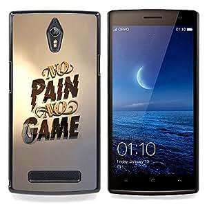 Ihec Tech No Gaming dolor ningún juego Oro Pc / Funda Case back Cover guard / for OPPO Find 7 X9077 X9007