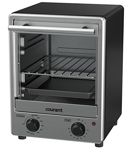 Courant Stainless Steel Toaster Oven with Tempered Glass Door and Galvanized Interior by Courant