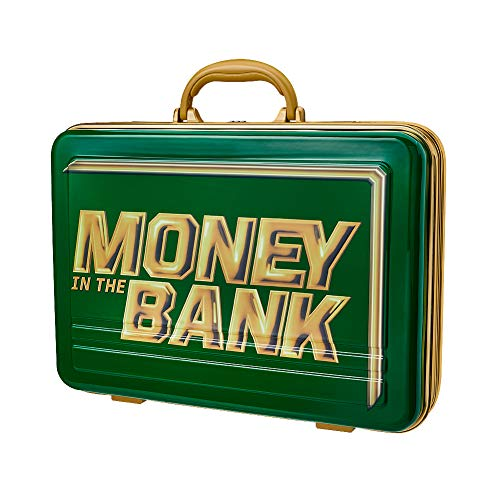 WWE Authentic Wear Money in The Bank Green Commemorative Briefcase (Wwe Money In The Bank Cash In)