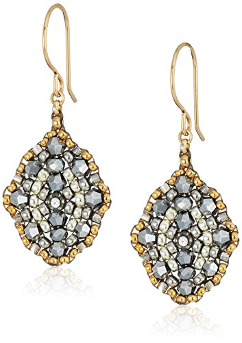Miguel Ases Small Pyrite Antique Style Drop Earrings by Miguel Ases
