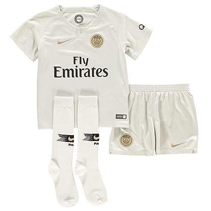 6f462e5f6875c Amazon.com : Nike 2018-2019 PSG Away Little Boys Mini Kit : Sports ...