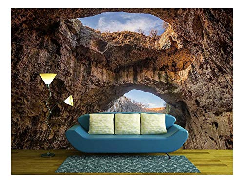 wall26 - The Cave - Magnificent View of The Devetaki Cave, Bulgaria - Removable Wall Mural | Self-Adhesive Large Wallpaper - 100x144 inches ()