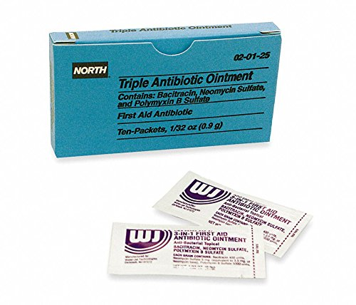 North by Honeywell 020125 Triple Antibiotic Ointment - Unitized Refill foil Packet - First Refill Aid North