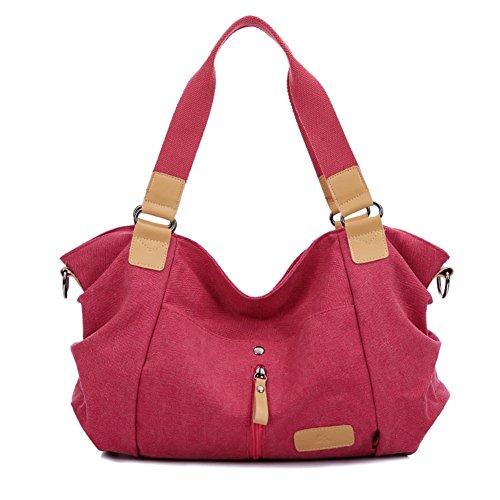 ZongSen Damen Vielseitige Tragetasche Modetrend Handtasche Umhängetasche Violett Kaffee Rot