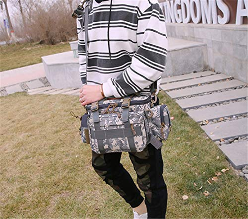 Impermeable Multiusos Resistente Tactical Gris Smnyi Al Handbag Outdoor Bolsa Messenger Hombre Riñonera Bandoleras Montañismo Combat Viajar Shoulder Desgaste Bags Camuflaje q58pO1