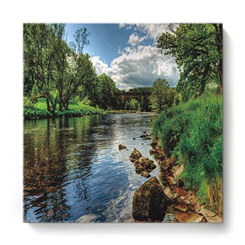 EZON-CH Canvas Wall Art Square Oil Painting Modern