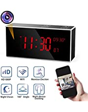 Spy Camera, Monja PRO WIFI Hidden Camera, Original Desktop Clock, HD 1080P Wireless Recorder, Superior IR Night Vision, 150°Angle Nanny Cam, with Monitoring Detection for Indoor Home Security